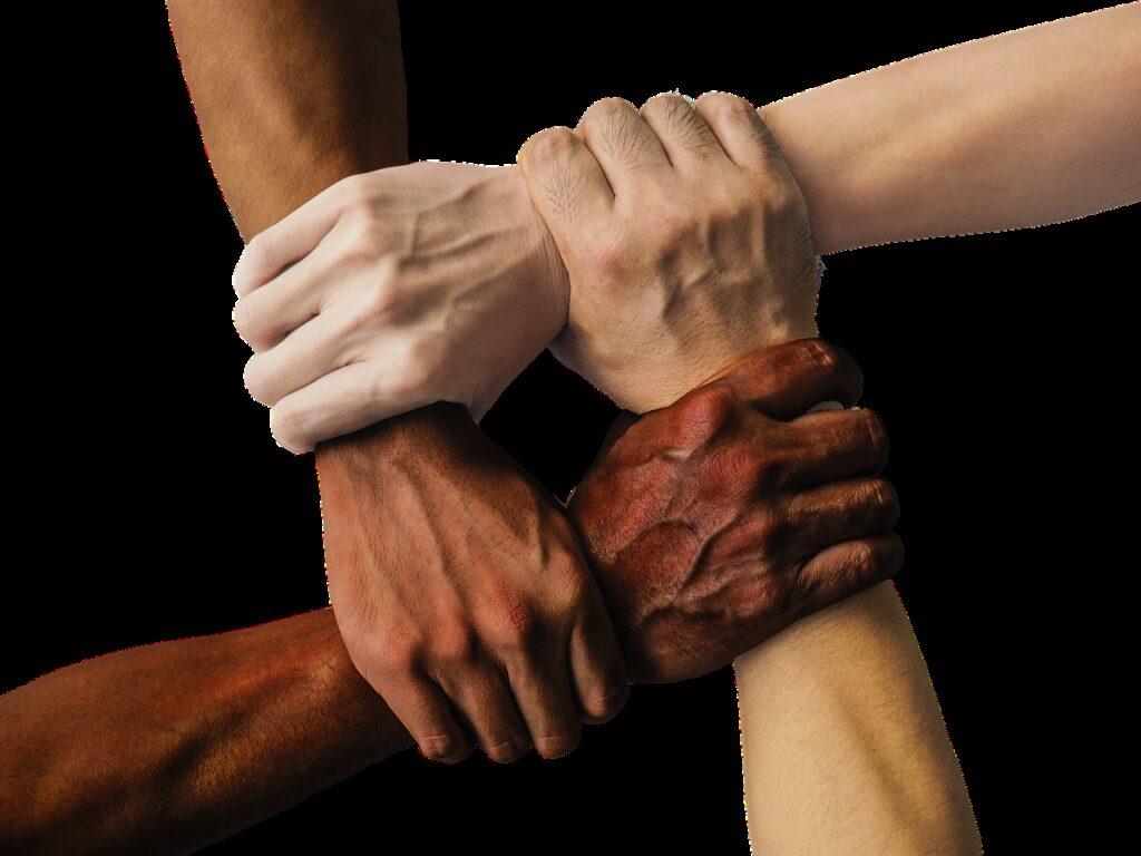 hand, united, together